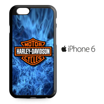 Harley Davidson Blue Flame iPhone 6 Case