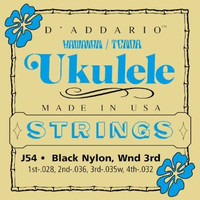 D'Addario J54 Black Nylon Tenor Ukulele Strings