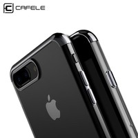 CAFELE ultra thin transparent soft TPU case for iPhone 7 cases electroplate shining case for iPhone 7 plus  Mixed silicon cover
