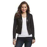 Jaclyn Smith Women's Tuxedo Style Knit Jacket - Clothing, Shoes & Jewelry - Clothing - Women's Clothing - Women's Regular Clothing - Women's Regular Blazers, Jackets & Vests