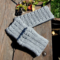 Hand Knit Winter Set of Boot Cuffs and Headband, Knitted  Boot Cuffs, Knitted Headband, Hand knit Boot Cuffs, Hand Knit Headband