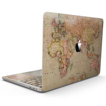 The Eastern World Map - MacBook Pro with Touch Bar Skin Kit