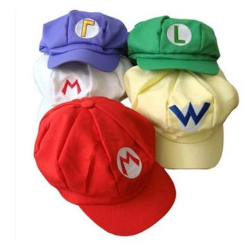 Super Mario party nes switch New Anime Caps Woman Military Cap  Bros Cosplay Cap Ruffle Hijab Bonnet for Man Fashion Hip Hop Unisex Octagonal Hats AT_80_8