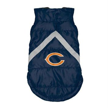 PEAPYW9 Chicago Bears Pet Puffer Vest