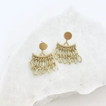 Chandelier Gold Earrings