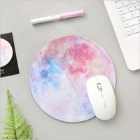 Colorful planet round shape mouse pad Rubber mouse mat DIY Planner Notebook Accessories School Office Supply Stationery Holder