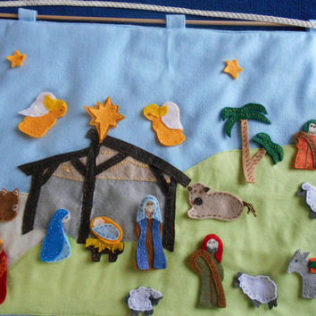 Nativity Advent Calendar counting the days to Christmas