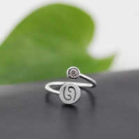 925 Sterling Silver 12 Constellation Ring (Cancer)