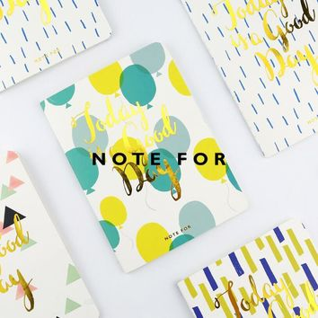 1Pcs Today Is A Good Day Soft Cover A6 Notebook Diary Book Exercise Composition Binding Note Notepad Stationery Supplies 7069
