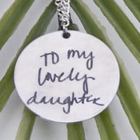 Personalized Custom Actual Handwriting Pendant Necklace