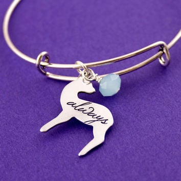 Harry Potter Bracelet - Snape's Patronus - Always - Adjustable Bangle Bracelet
