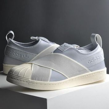 Adidas SUPERSTAR SLIP ON Fashion Flats Sneakers Sport Shoes