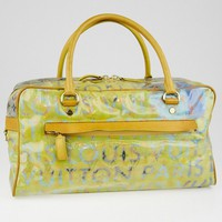 Louis Vuitton Richard Prince Jaune Denim Defile Weekender PM Pulp Bag