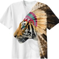 Fight For What You Love - Chief of Dreams: Tiger v.2 Unisex T-Shirt created by soaringanchordesigns | Print All Over Me