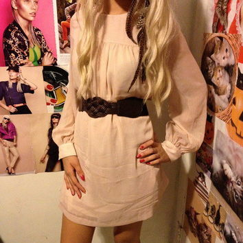 Chiffon Beige Loose Dress NWT by Lolita's Closet