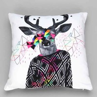 Kris Tate For DENY Wwww Pillow- White One