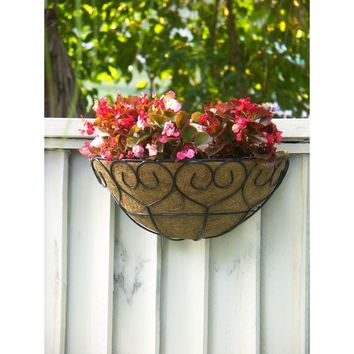Better-Gro Coconest 9 in. Painted Steel Half Basket Planters (2-Pack)-52635 at The Home Depot