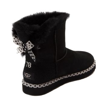 Womens UGG® Bailey Bow Mini Boot, Black | Journeys Shoes