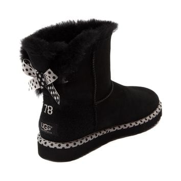 womens ugg bailey bow mini boot black from journeys rh wanelo co