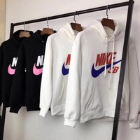 Nike Women Fashion Hooded Top Pullover Sweater Sweatshirt