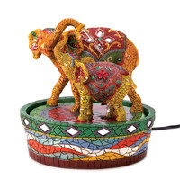 Zingz & Thingz Elephant Mini Polyresin Tabletop Fountain