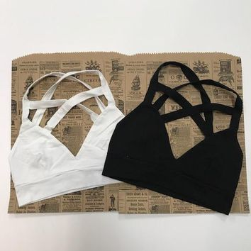 Cross Back and Front Bralette (Multiple Colors Available)