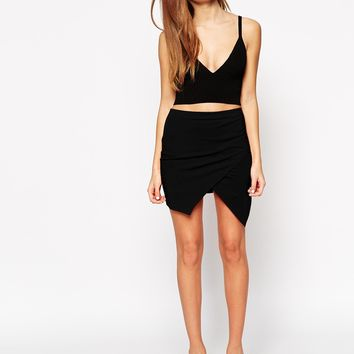 ASOS Mini Skirt With Wrap Front