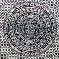 Indian Mandala Wall Hanging Tapestry, Hippie Hippy Style, Throw Bedding Bedspread, Bohemain Dorm Decor Mandala Tapesties, Table Cloth, Picnic Beach Sheet, 54x86 Inch.