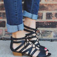 Grecian Summer Sandal - Black