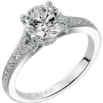 "Artcarved ""Jordana"" Split Shank Diamond Engagement Ring"
