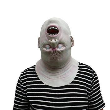 Spoof Horrible Halloween Reverse 3D Mask Alien Zombie Mask Party Easter Masquerade Costumes for Men Boy Tricky Props