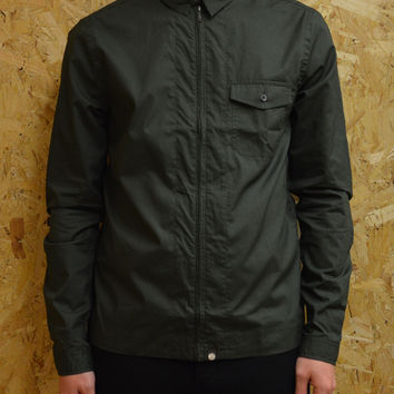 Pretty Green Zip Front Shirt - Eighty Eight Store