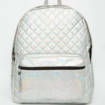 New Look Holographic Backpack at asos.com