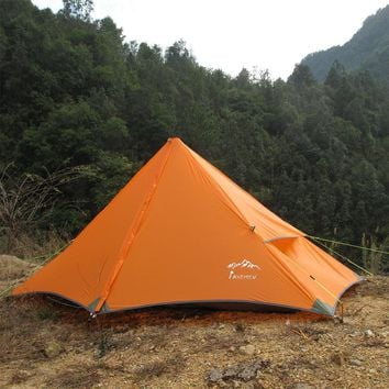 High quality silicon 4season ultralight Eisman original pyramid single rodless lightweight mountain tent single suicide