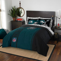 Philadelphia Eagles NFL Full Comforter Bed in a Bag (Soft & Cozy) (76in x 86in)