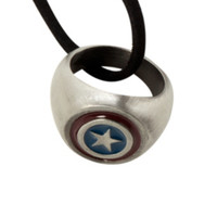 Marvel Captain America Ring Necklace