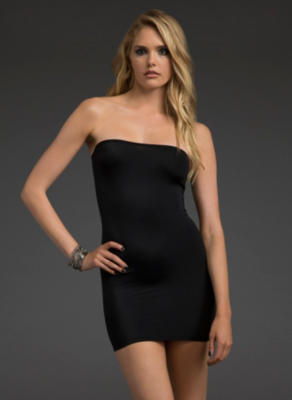 microfiber mini tube dress from blackheart clothess
