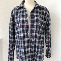 ALMA VINTAGE FLANNEL- NAVY/RED
