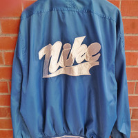 Vintage NIKE Snap Button Baseball Basketball Swag Trainer track Bomber Jacket XL