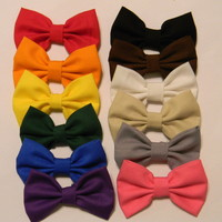 6 pc Fabric Bow Sets