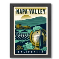 Americanflat Original Napa Valley Designs Wall Art