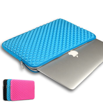 Laptop Sleeve bag For MacBook Air Shockproof Fashion Diamond Style