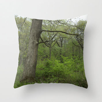 Velveteen Pillow - Calm Forest - Rustic Pillow - Nature Decor - Boho Decor - Rustic Decor - Nature Decor - Farmhouse Chic - Woodland Decor