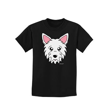 Cute West Highland White Terrier Westie Dog Childrens Dark T-Shirt by TooLoud