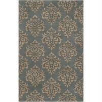 Area Rug - Caper Green, Midnight Green, And Winter White