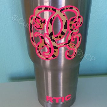 RTIC Personalized / Monogram Tumbler 30 oz Any Monogram of Your Choice!!