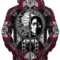 SNP Sitting Bull collage design (RED)