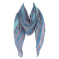 Euro Brand Style Women Fashion Polyester Square Scarf