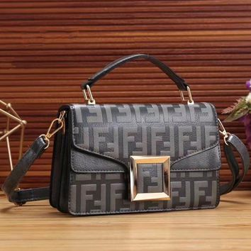 FENDI Fashion Women Shopping Handbag Crossbody Satchel Shoulder Bag-4