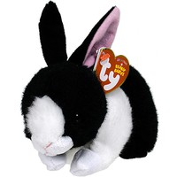 """Pyoopeo Ty Beanie Babies 6"""" 15cm Checkers the Bunny Plush Regular Soft Stuffed Animal Rabbit Collectible Doll Toy with Heart Tag"""